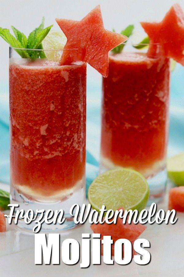 How To Make Irresistable Frozen Watermelon Mojitos