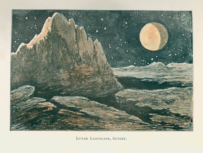 The lunar landscape 'at sunset' - Anonymous Prints | The Royal Society