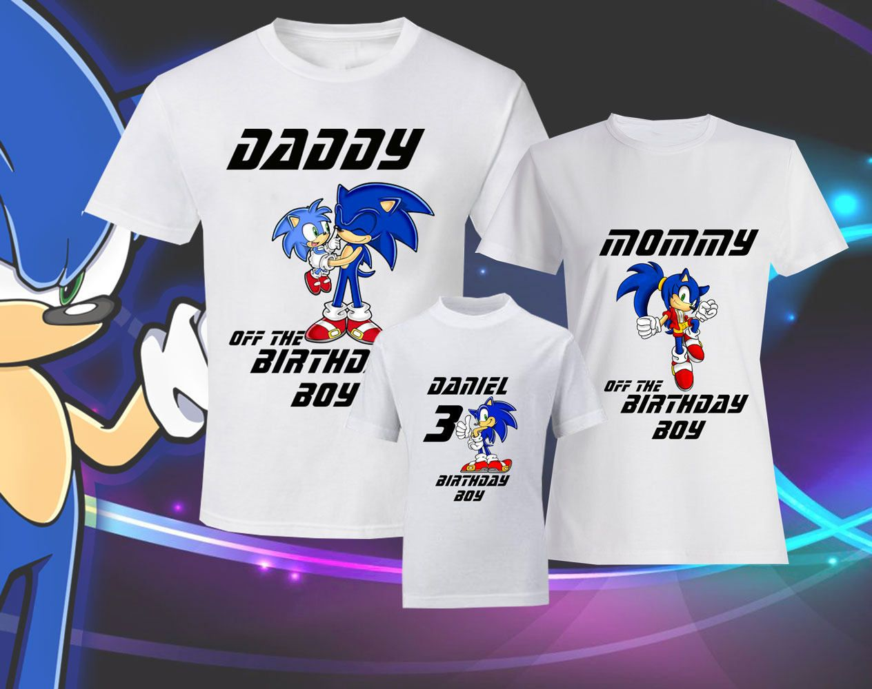 Birthday Sonic Shirts Sonic T Shirt Sonic Family Shirts Birthday T Shirts Sonic The Hedgehog Tee Miles Tails Prower Shirt Sonic T Shirt Family Shirts Shirts