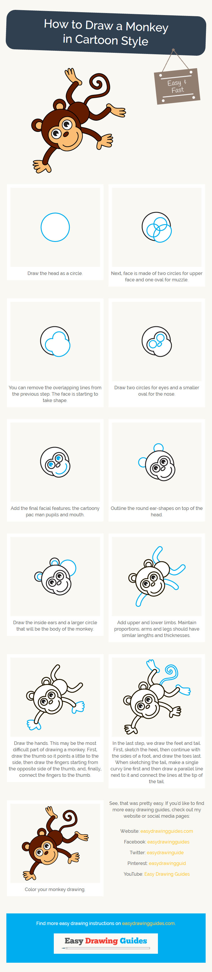 how to draw a monkey easy and simple guide more monkey drawing