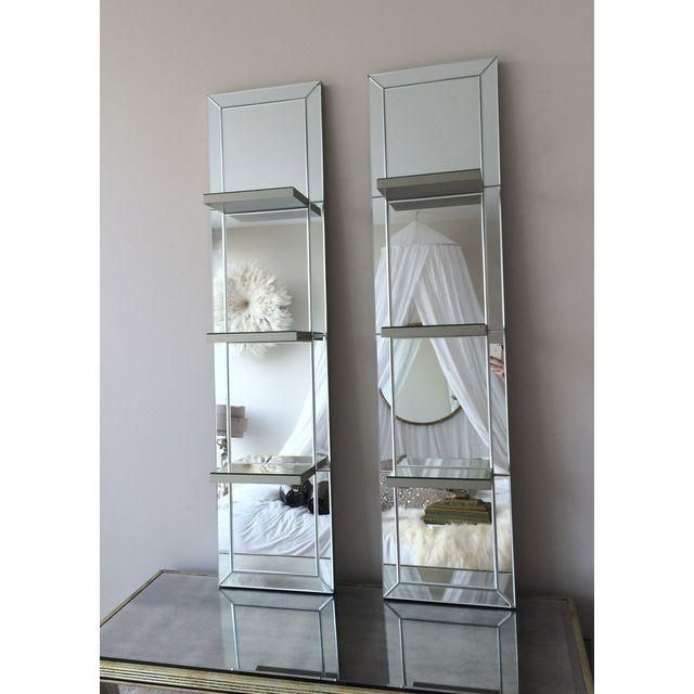 Image of Mirrored Shelf Wall Panels - A Pair | Mirror ...