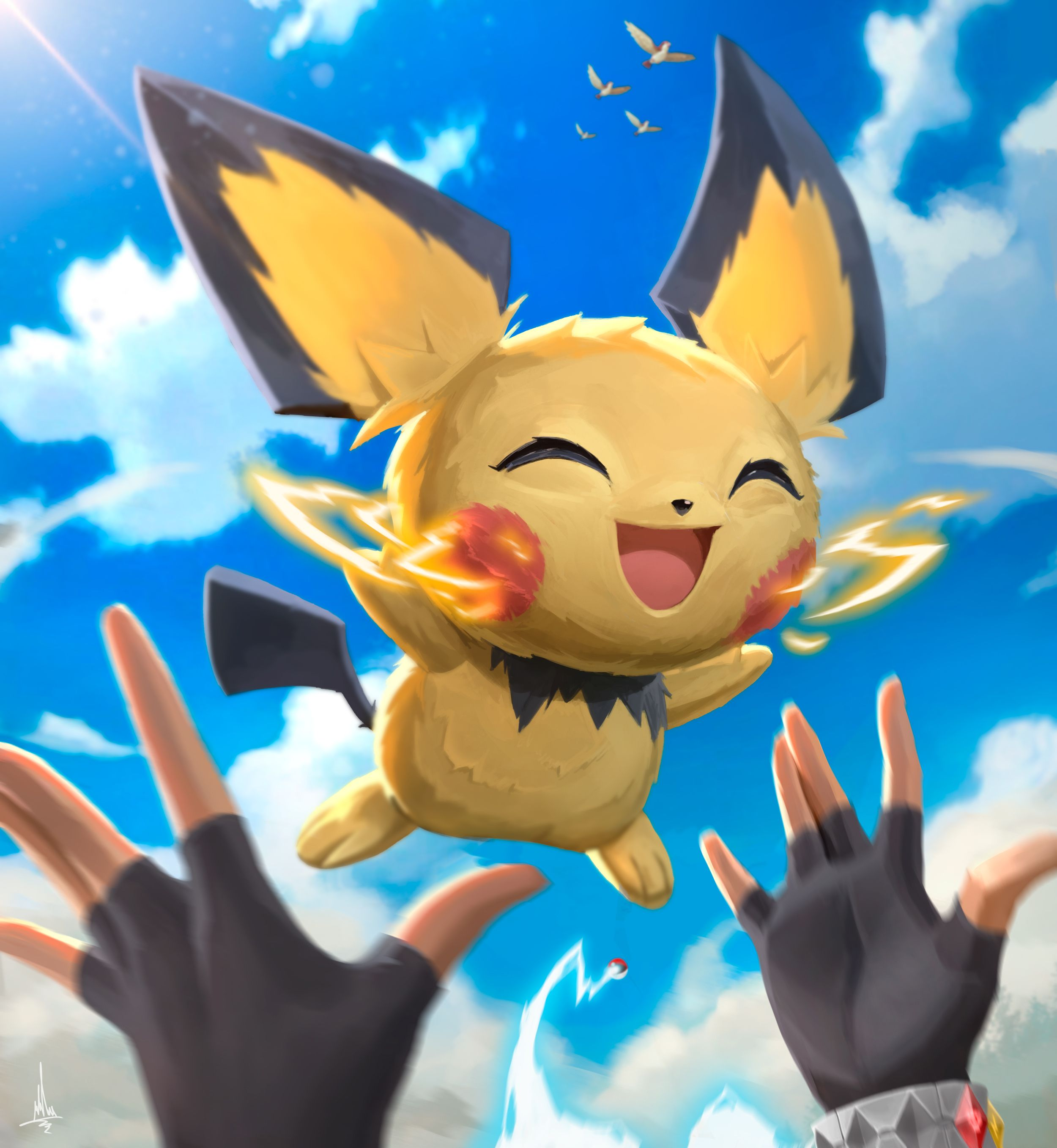 My Pokemon Fan Art Pichu S First Battle Pokemon Fan Art Cute Pokemon Wallpaper Pokemon