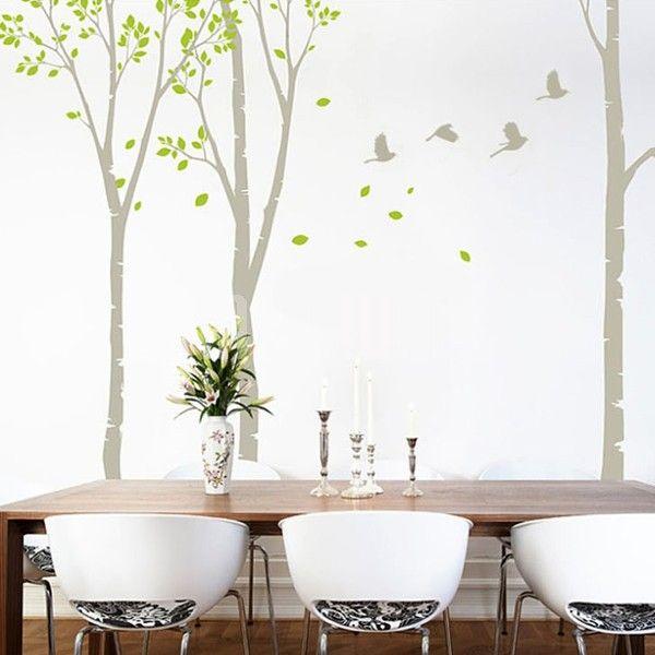 Tree Wall Decals Canada White Birch Grove