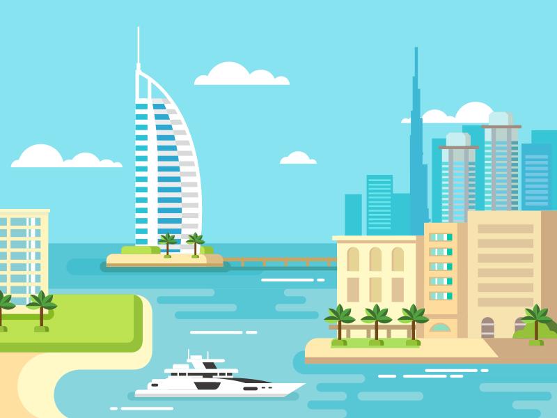 Dubai city  by Anton Frizler