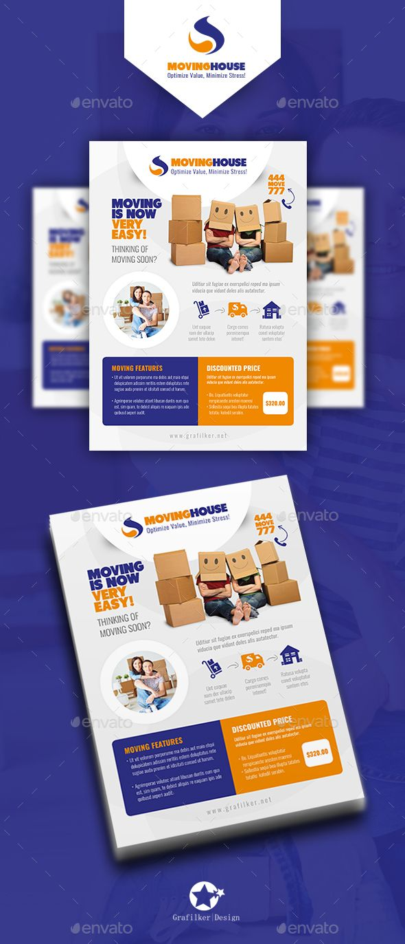 Moving House Flyer Template Psd Indesign Indd Flyer Templates