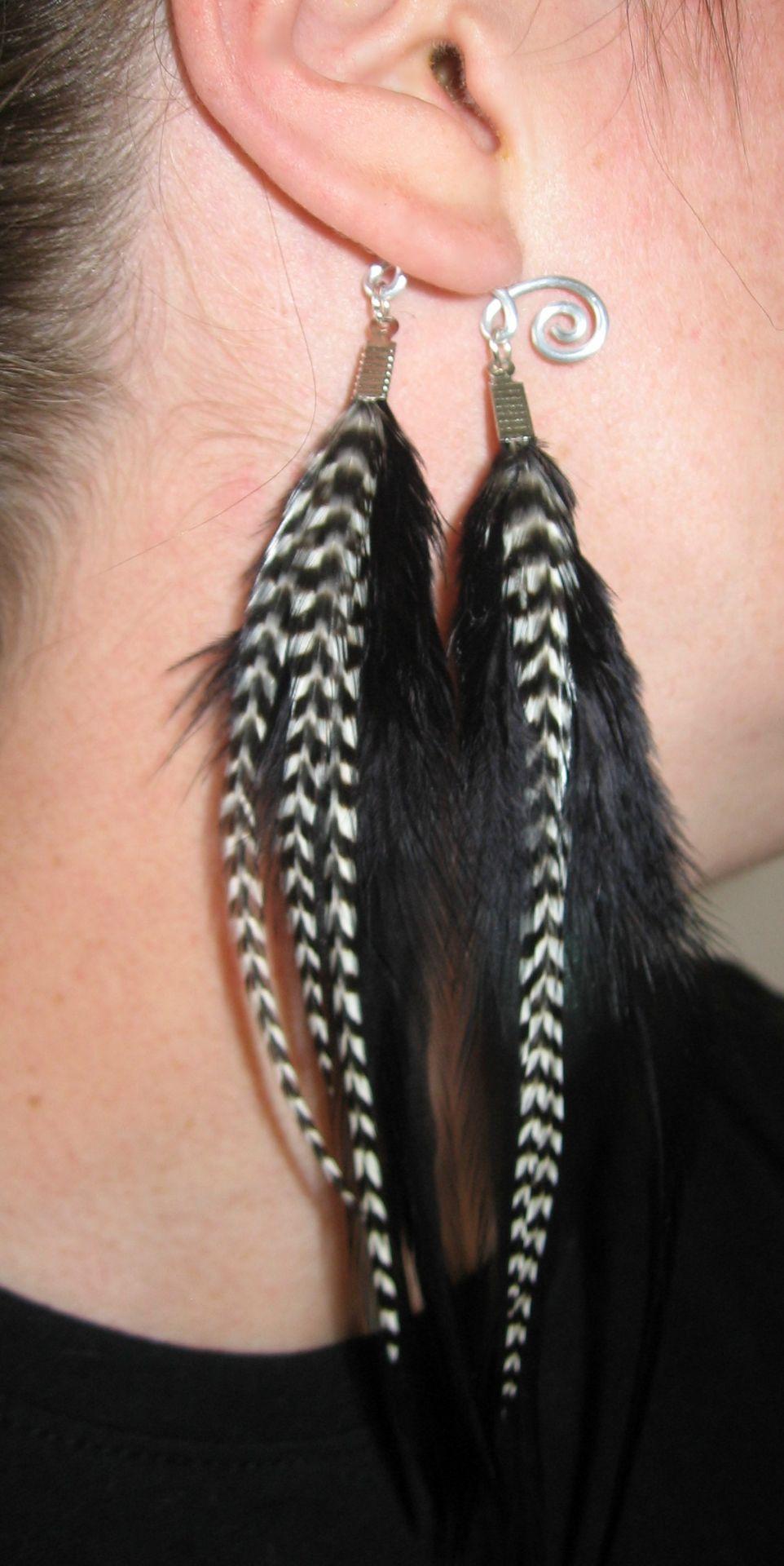 Bague d'oreille plume