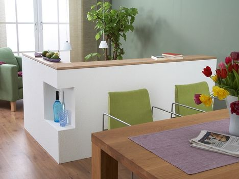 Raumteiler aus Gipsplatten Möbel Pinterest Raumteiler - raumteiler küche wohnzimmer