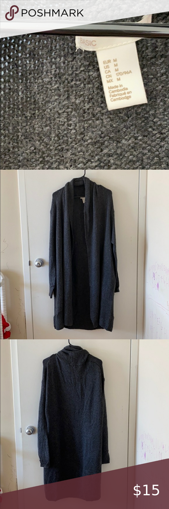 Wool mixed Long cardigan Wool mixed Long cardigan