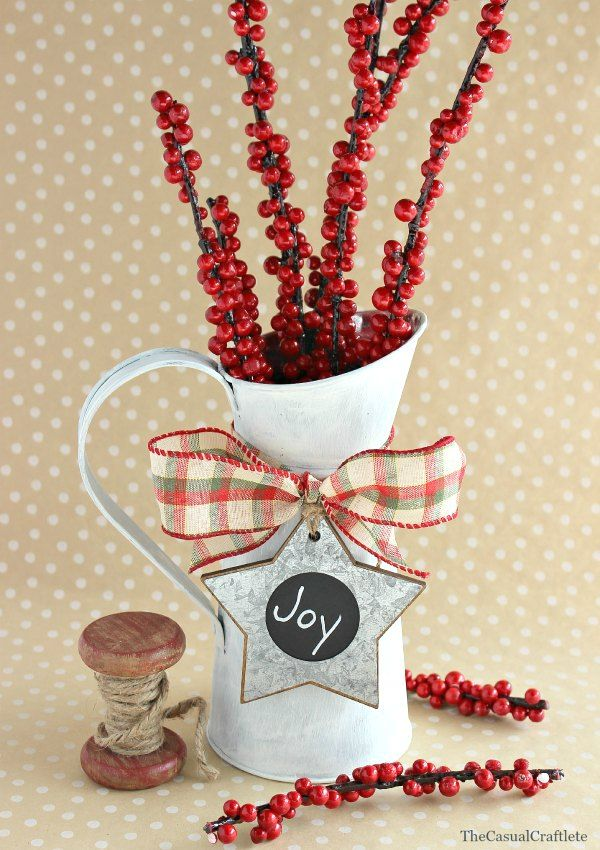 Chalky Paint Christmas Pitcher Vase Christmas Vases Chalky Paint