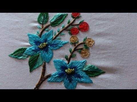 Hand Embroidery Designs For Cushion Covers And Frocks Embroidery Stitches Tutorial Youtube Bordado Fantasia Bordado Mejicano Videos De Bordados
