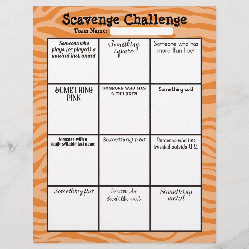 Easy office scavenger hunt game board letterhead Zazzle