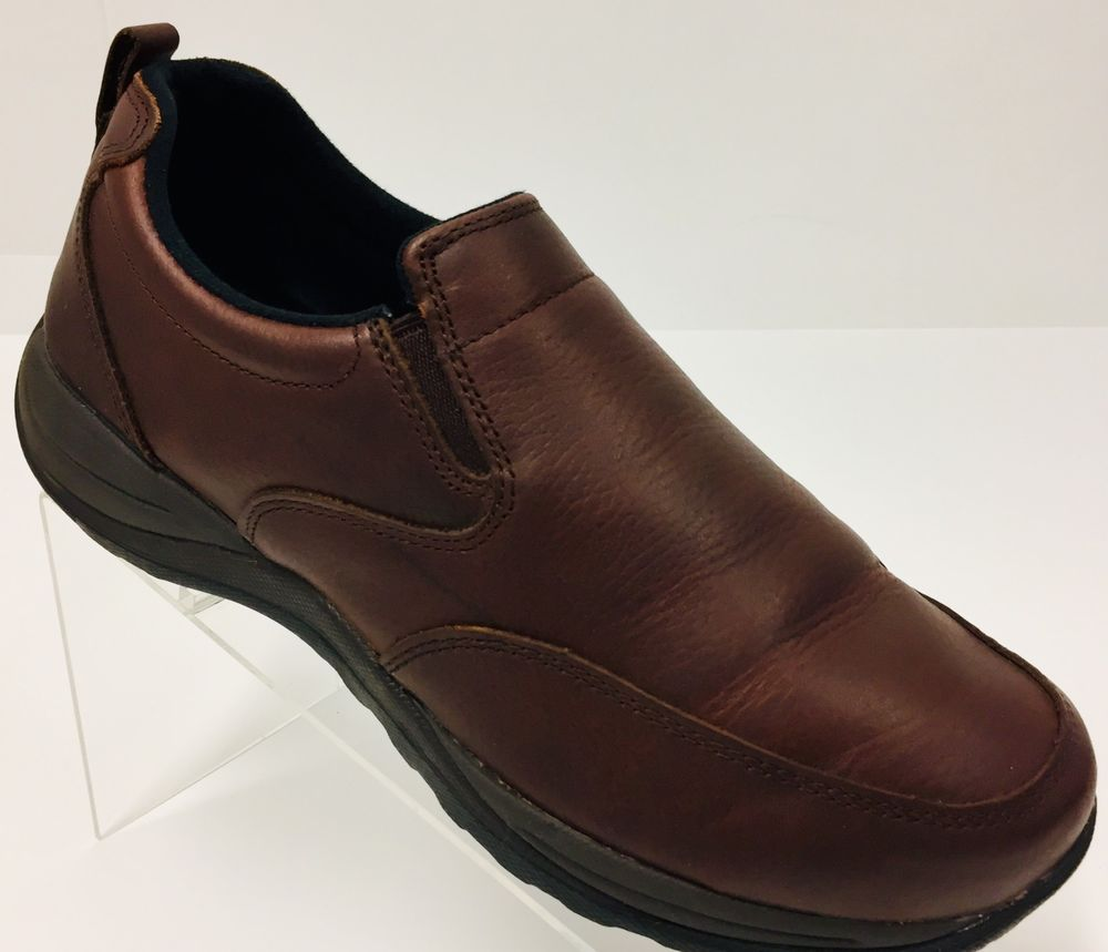 LL Bean Mens Brown Size 9W Leather Slip