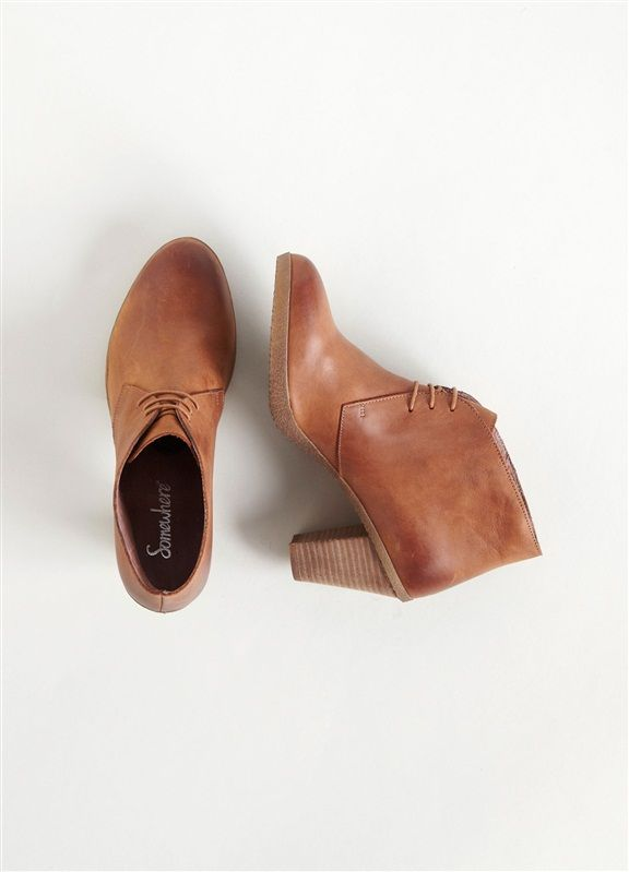 da8cad7518f8f8 Low boots femme cuir à lacets talon haut, CUSSY COGNAC+GRIS+NOIR ...
