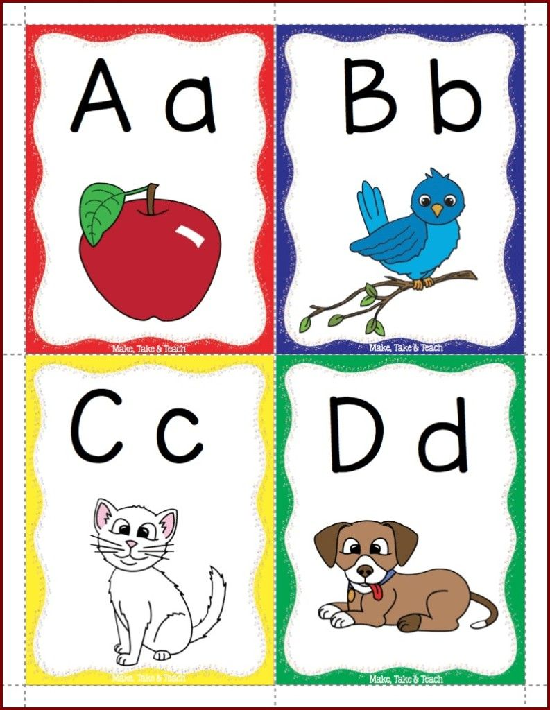 Effortless image with regard to alphabet printable flash cards