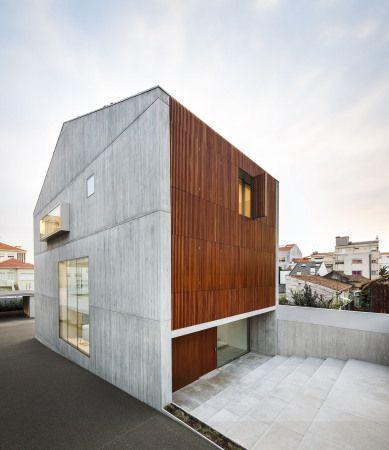 Beton, Boden, Wand, Holzlamellen, Fenster, Front, Porto, Seiqueros ...