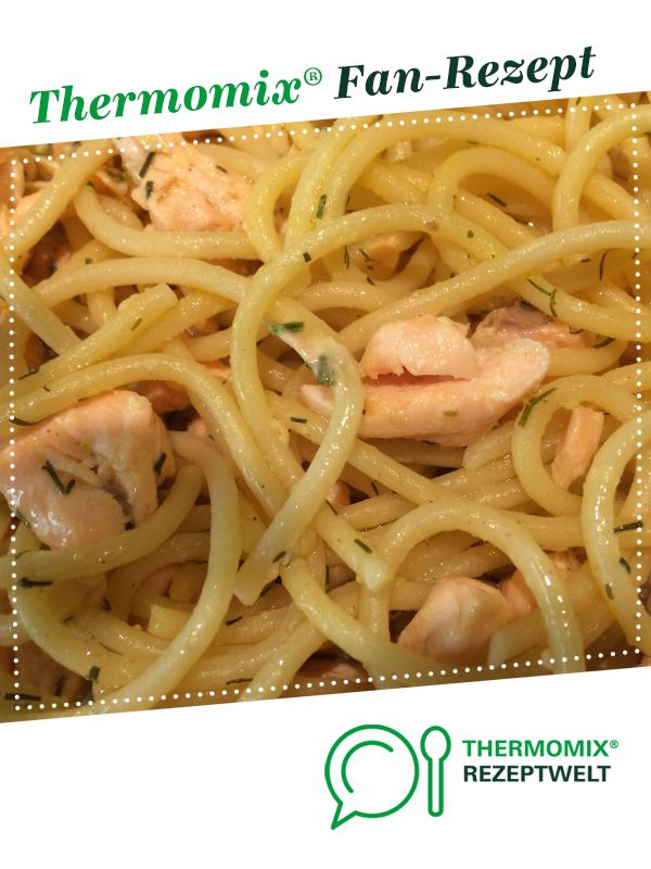 Spaghetti mit Lachs-Zitronensoße