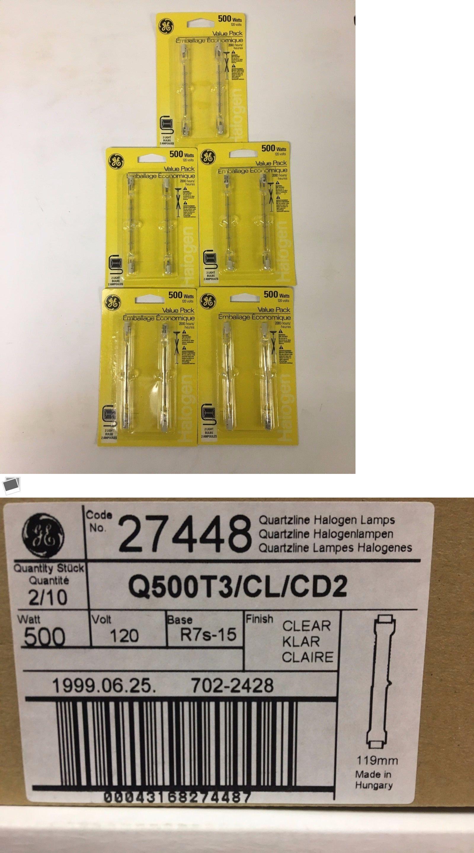500 Watt T3 Quartz Halogen Bulbs 2pk X 5 Cards Halogen Bulbs Bulb Halogen