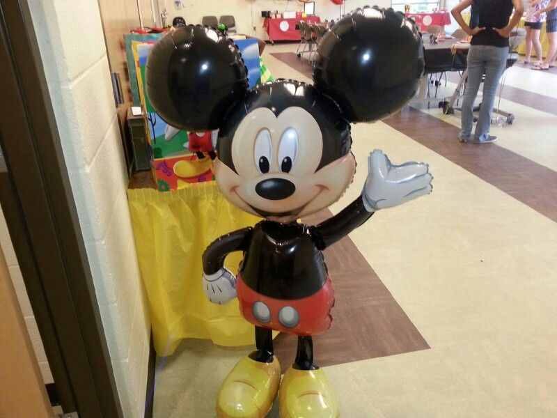 Mickey Mouse greeted the guests as they arrived