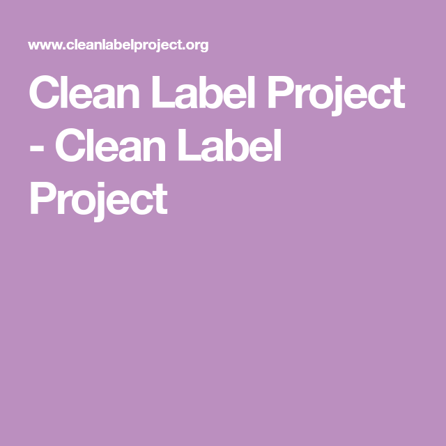 This is an image of Enterprising The Clean Label Project