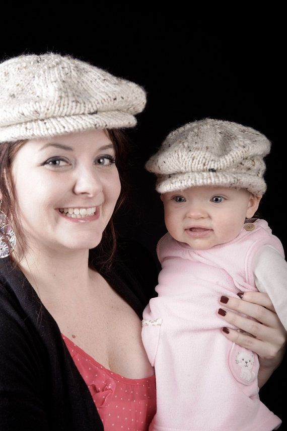 PDF Knitting Pattern Scally Cap Drivers Cap Newsboy Newborn Baby to ...