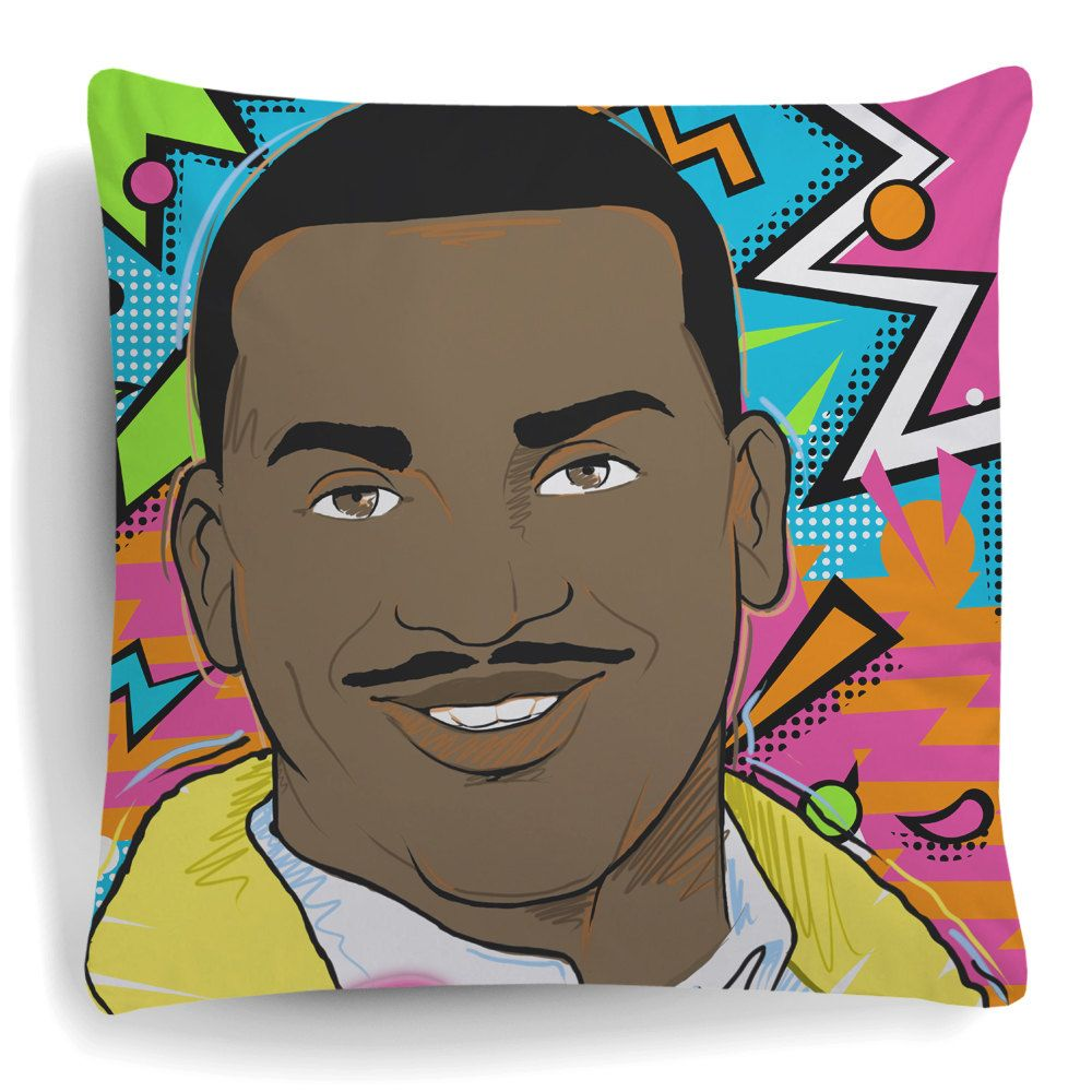 Carlton Cushion Bel-Air Pillow Funny Dance Sofa Plush Fresh 90s Pattern New Banks Alfonso Home Decor Retro Vintage Homeware Christmas (13.95 GBP) by Spicetag