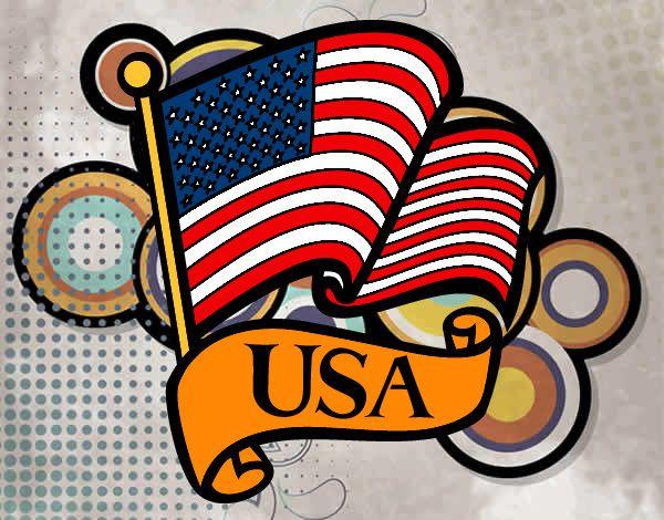 Dibujo De Bandera De Los Estados Unidos Pintado Y Coloreado Por Hd Walls Find Wallpapers Bandera De Estados Unidos Bandera Estados Unidos