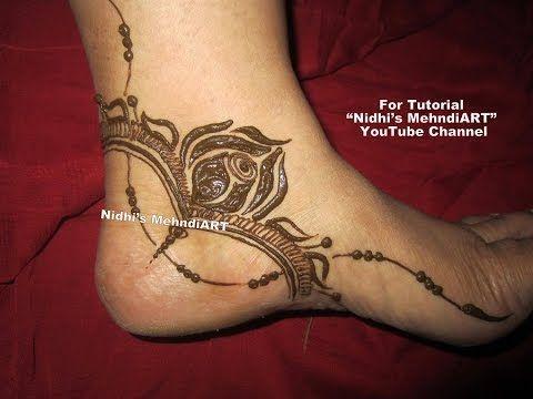 Side Feet Mehndi Designs : Stunning gulf style rose flowery side feet henna mehndi design art