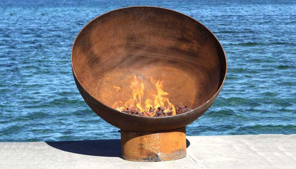 Portable Fire Pit Beach : Cast iron fire pit the bowl pits pinterest