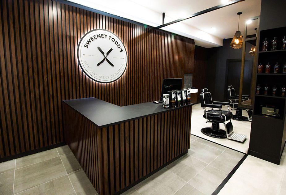 Barbershop design - Sweeny Todds - Comfortel Salon Furniture New Zealand