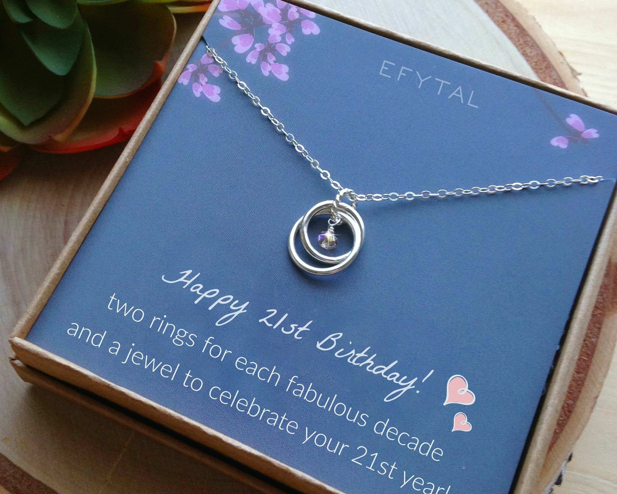 21st birthday gifts for her sterling silver 21 year old