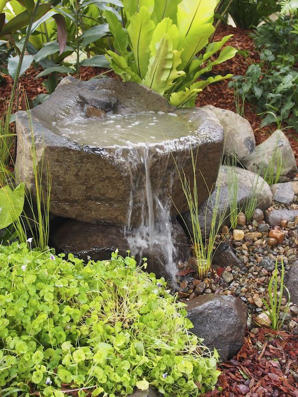 Water Feature In The Garden Small Features Outdoor