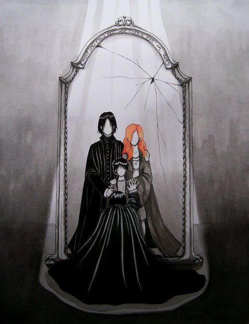 Harry Potter - Snape looking into the Mirror of Erised