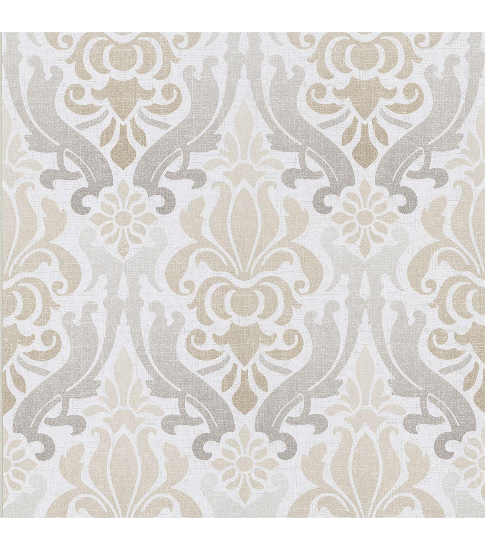 Aquitaine Taupe Nouveau Damask Wallpaper Damask Wallpaper Brewster Wallpaper Peel And Stick Wallpaper