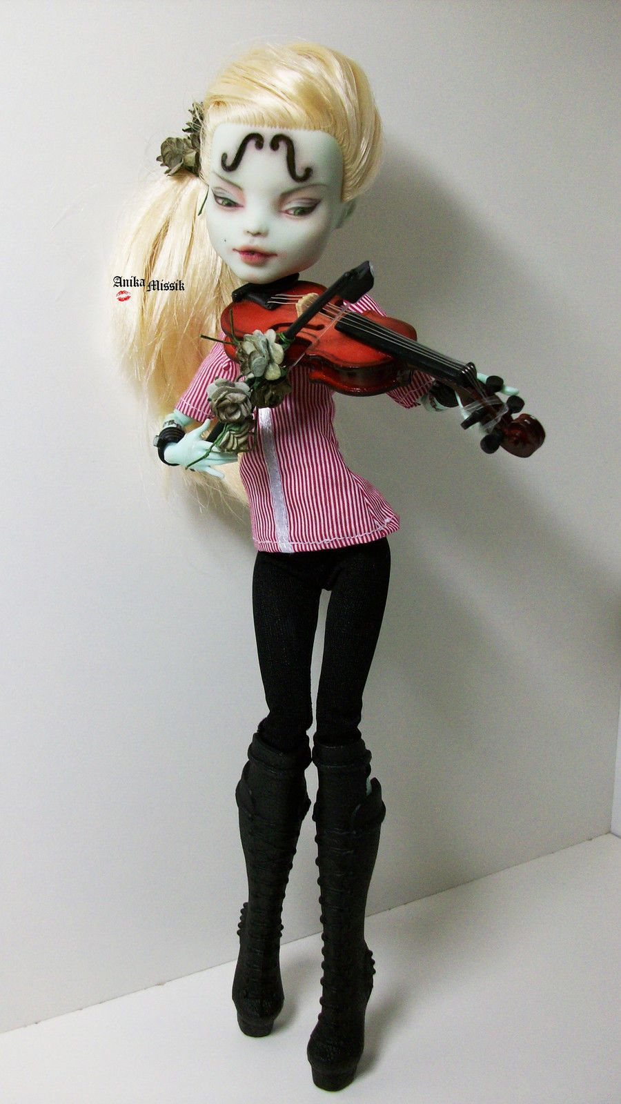 Monster High Frankie Stein Violinist OOAK Repaint Custom by ...