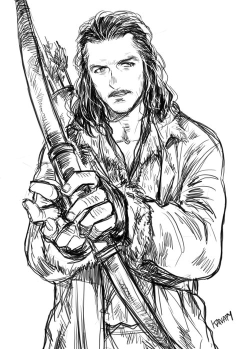 Bard the bowman by Kanapy on tumblr
