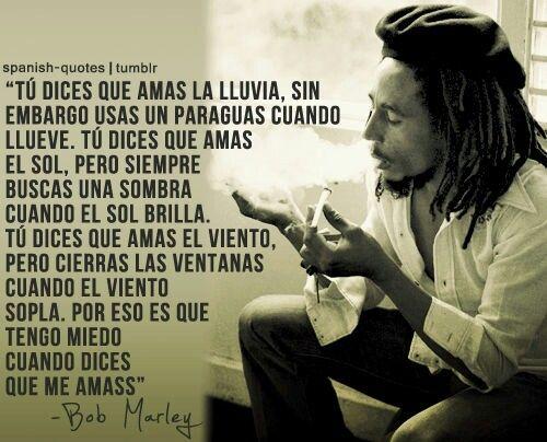 Tengo Miedo Amar La Lluvia Citas De Bob Marley Y Decir No
