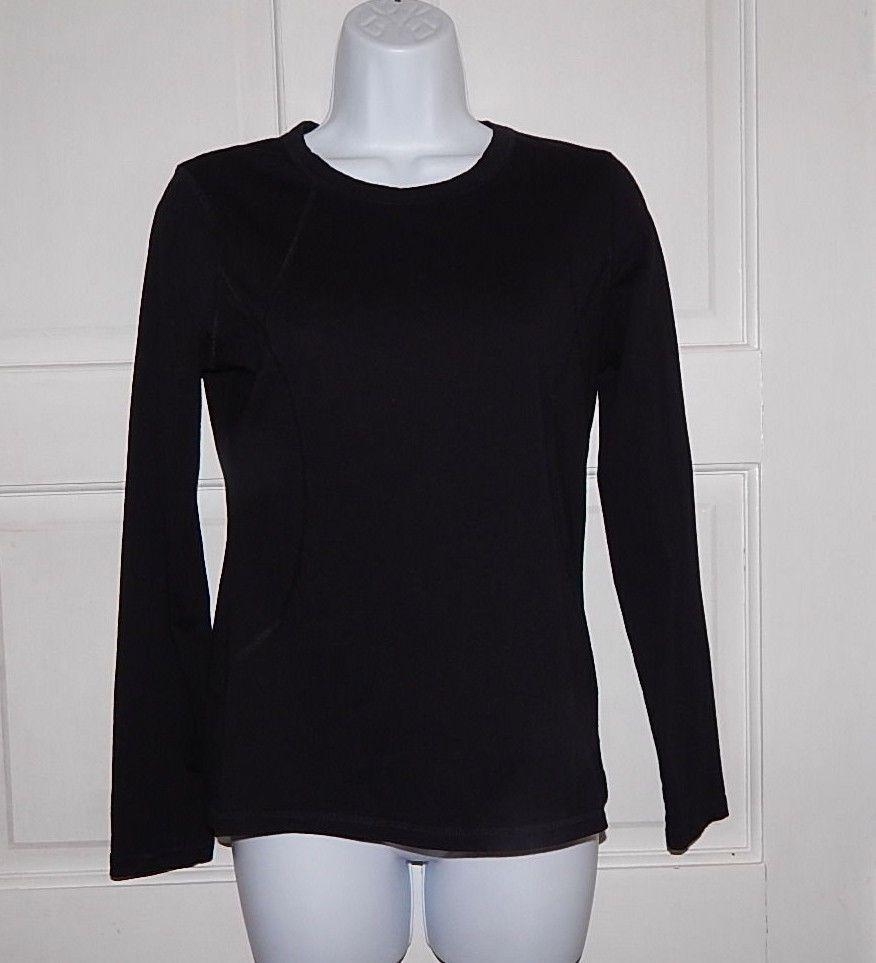 Tek Gear workout sports black top shirt long sleeve sz s euc  #TekGear #ShirtsTops