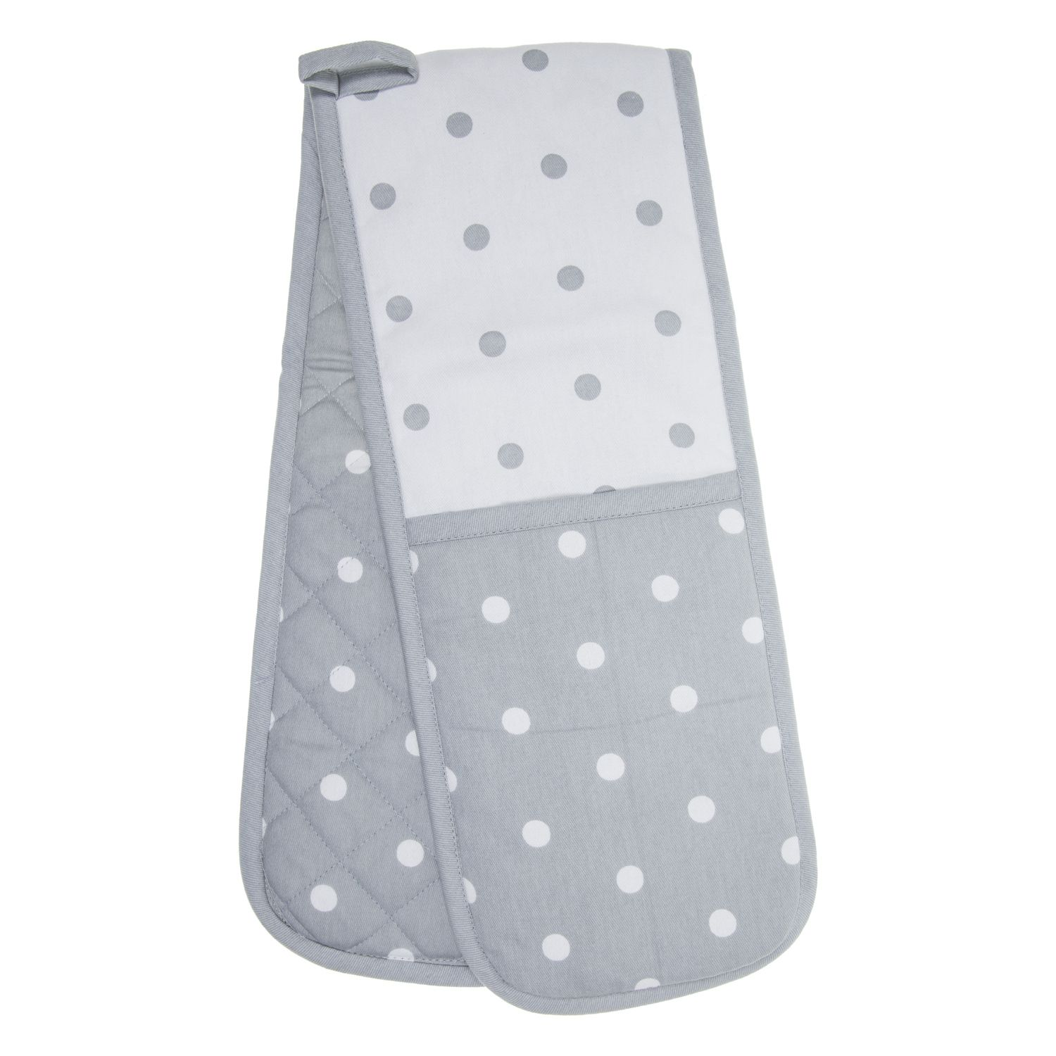 Best Polka Dot Grey Double Oven Glove With Images Double 400 x 300