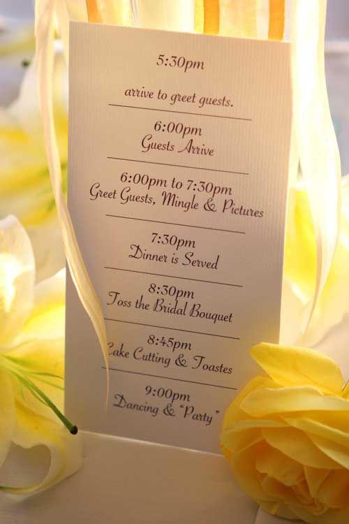¿Quiere orden en su boda? podría lograrlo si entrega cronograma.