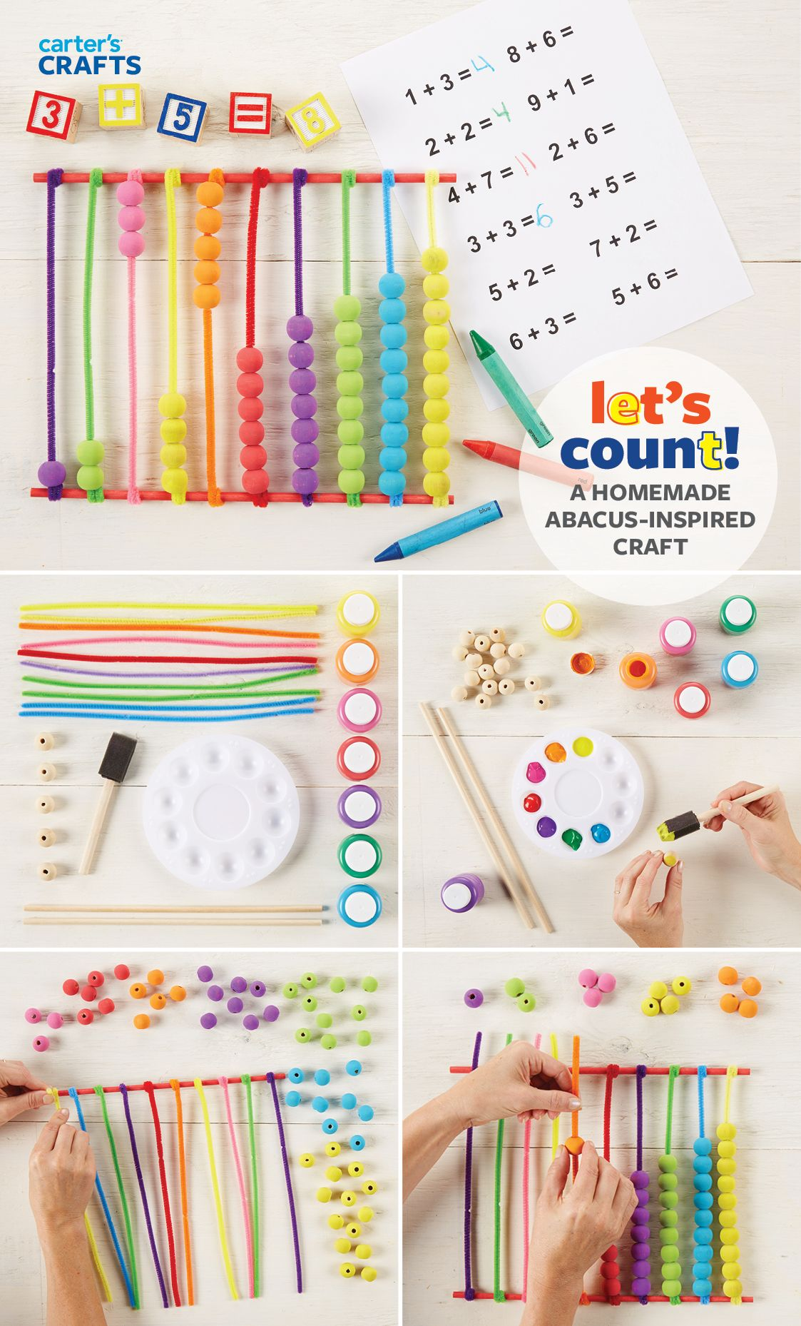 Let S Count A Homemade Abacus Inspired Craft Is Great For Practicing Math Skills Fine Motor Skills And Color Recognition Crafts Abacus Math Abacus [ 1858 x 1123 Pixel ]