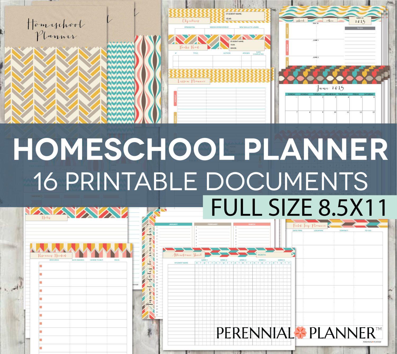Homeschool Planner Editable Digital Printables, 19 Documents, 123 ...