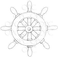Boat Wheel Drawing Google Search Digital Stamps Coloring