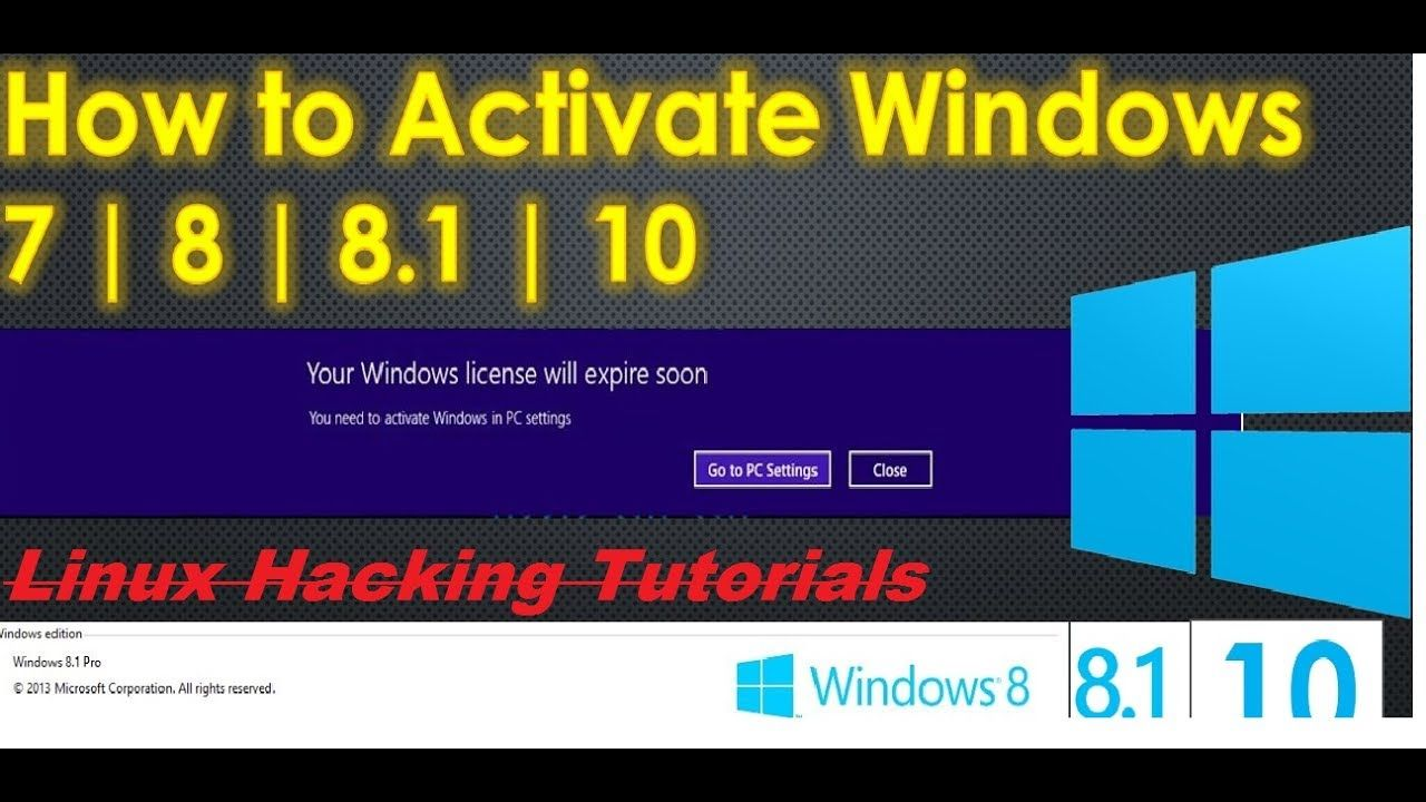 How to activate windows 10 8 8 1 7 all version how to how to activate windows 10 8 8 1 7 all version ccuart Choice Image