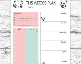 Big Happy Planner Weekly Planner Printable Pdf Letter Size Weekly
