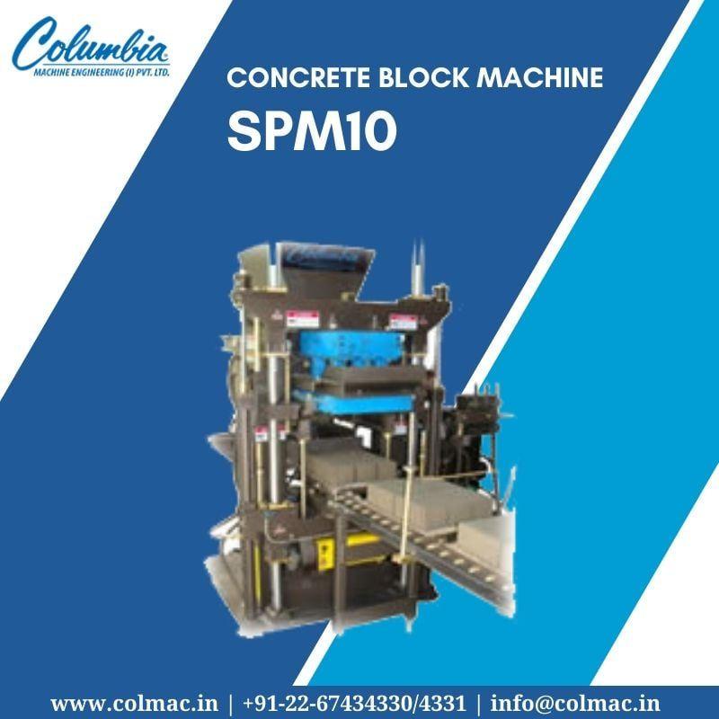 Concrete Block Machine Spm10 Concrete Blocks Concrete Paver Blocks
