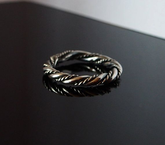 viking silver ring vikings historical reenactment gotland band sweden ix xi wedding band archeology norse replica twist ring - Viking Wedding Rings