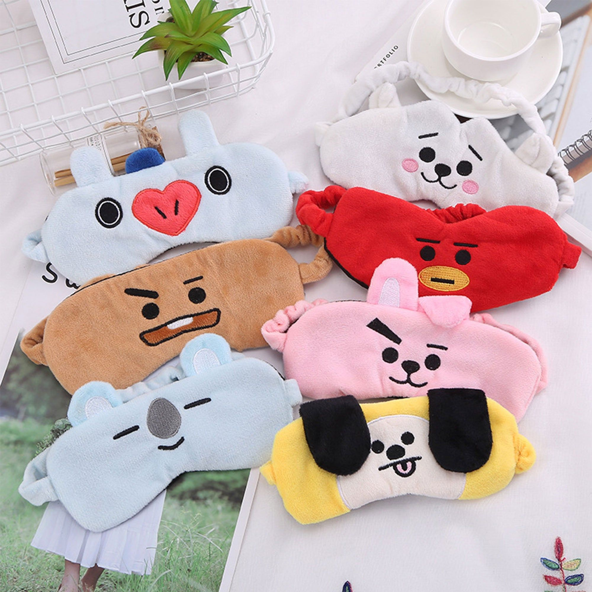 Bts Sleep Mask Bt21 Sleep Mask Bt21 Cooky Bt21 Tata Bt21 Chimmy Bt21 Rj Bts Merch Bts Kpop Unofficial In 2020 Sleep Mask Bts Merch Birthday Gifts For Girlfriend