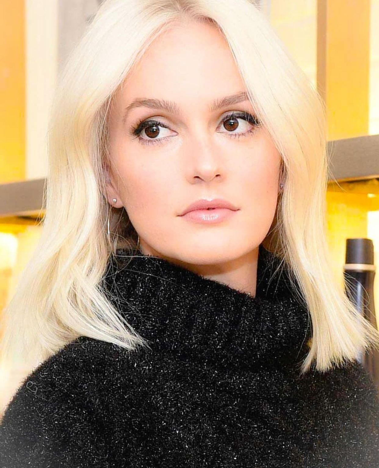 Leighton Meester With Her New Hair Color Platinum Blonde I Love