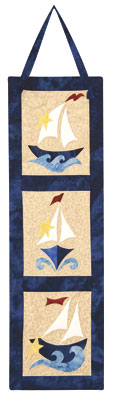 The Sailboat Trio - thinking of using this idea for a table runner