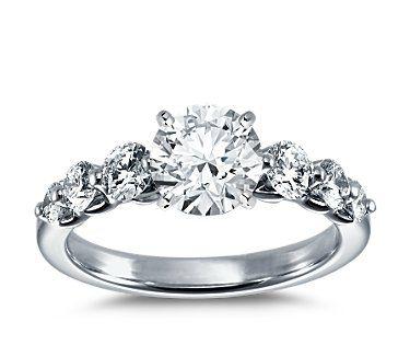Floating Diamond Engagement Ring in Platinum (3/4 ct. tw.)